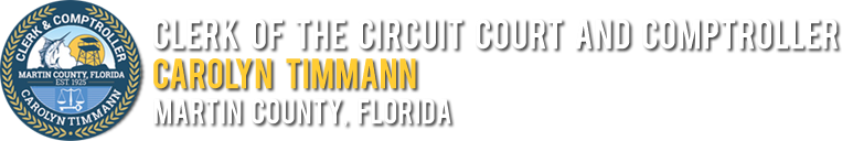 Clerk of the Circuit Court and Comptroller - Carolyn Timmann - Martin County, Florida